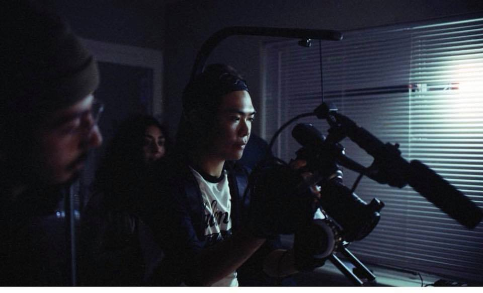 Director of Photography Justin Vong, 1st AC Justin Aragon, Director Zaira Aguilar.