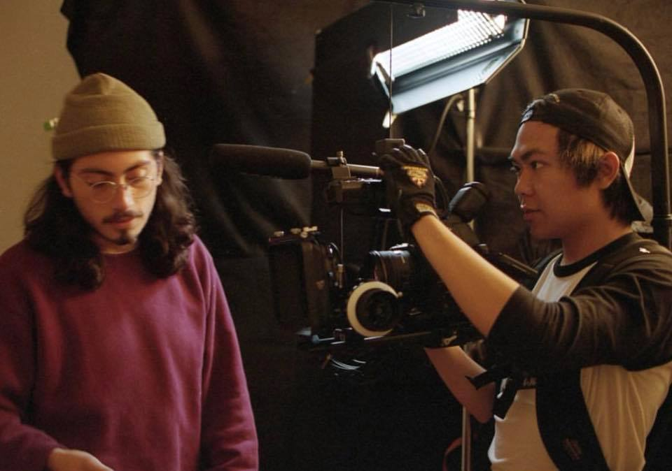 1st AC Justin Aragon Director of Photography Justin Vong taking B-roll of the mother's interior bedroom