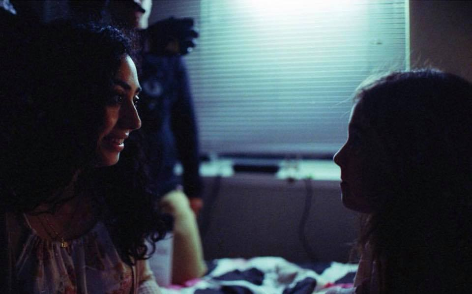 Zaira Directing Lead Actress, Sidney Karr, through the opening nightmare scene.